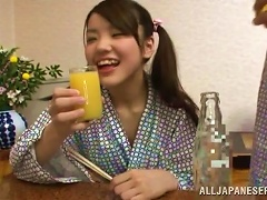 Japanese Teen Gets Her   Fucked For Breakfast