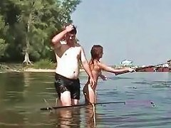 Naked Fishing With Very Cute Russian Teen Elena