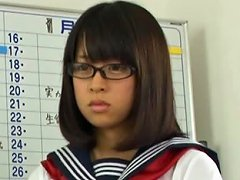 Yuika Seno The Sexy Schoolgirl Sucks Off An Older Man